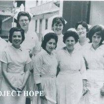 Image of Kim Sasano HOPE nurse in Quayaquil, Ecuador 1963.