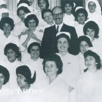 Image of Alice James in a hospital in Quayaquil, Ecuador 1963.