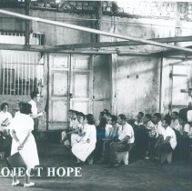 Image of Patients register at a HOPE clinic in Ecuador 1963.