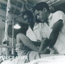 Image of Physical therapist Vivian Crosswhilte on the SS HOPE in Guayaquil, Ecuador