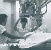 Image of Unknown HOPE x-ray tech on the SS HOPE in Guayaquil, Ecuador 1963.