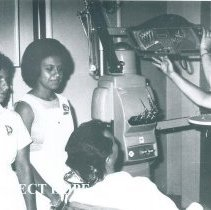 Image of Doris Winter in Dental clinic on the SS HOPE in Guayaquil, Ecuador 1963.