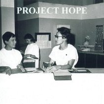 Image of Kim Sasano in a hospital in Guayaquil Ecuador 1963.