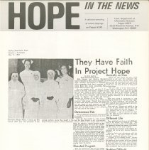 Image of Newsletter - HOPE In The News  June 1967