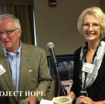Image of John Wihelm and Carolyn Kruger at the 2016 Alumni reunion in Washington DC