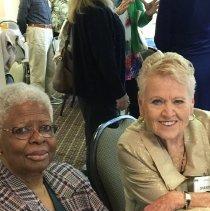 Image of Agatha Lowe and Sharon Redding at the 2016 Alumni reunion in Washington DC