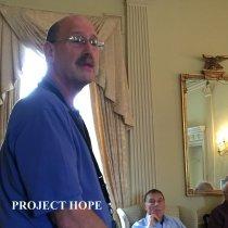 Image of Burt Kaplan from HOPE Center and Alumni Bill Strein at the 2016 Alumni reun