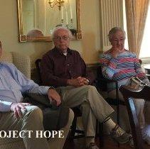 Image of Bill Strein, Buddy Guynn and Marilyn Guynn at Carter Hall at 2016 reunion