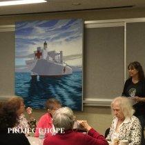 Image of Edie Vaughn, Joyce Brown, MaryAnn Surman 2016 reunion at Carter Hall
