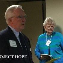 Image of john Wilhelm and Nancy Savage at the 2016 Alumni reunion in Washington DC