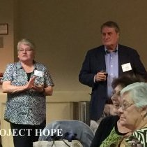 Image of Debbie Reister and John Walsh with Esther Kooiman in foreground 2016 reunio
