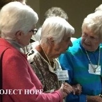 Image of Anne Fangman, Dorothy Aeschliman and Nancy Savage 2016 reunion in DC
