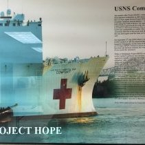Image of Picture of the USNS Comfort in the Education Center at HOPE Center 2016