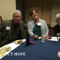 Image of Lois Hofstra, Earl Rogers, Faye Pyles and Jeanette Dillman 2016 reunion.