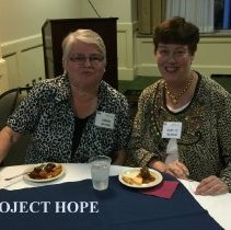 Image of Debbie Reister and Mary Jo Wilhelm at the 2016 Alumni reunion in Washington