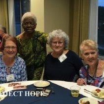 Image of Jane Nichols, Agatha Lowe, Faith Garver and Sharon Redding 2016 reunion