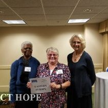 Image of Agatha Lowe, Debbie Reister and Carolyn Kruger at the 2016 reunion in DC