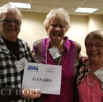 Image of Irene Herweyer Machado, Nancy Savage and Joyce Brown at 2016 reunion in DC