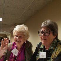 Image of Nancy Savage and Joanne Jene at the 2016 Alumni reunion in Washington DC