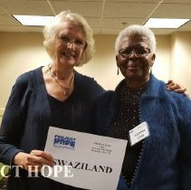 Image of Swaziland Alumni Carolyn Kruger and Agatha Lowe at 2016 reunion in DC