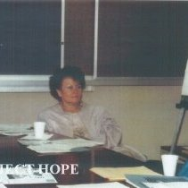 Image of Ann Lenzmeier Ledford at the 1991 Alumni Board Meeting