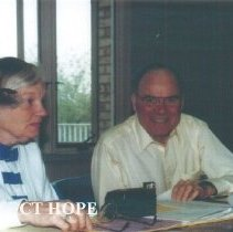 Image of Eunice Childs and Al Childs at 1991 Alumni Board Meeting.
