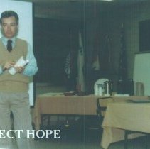 Image of John Wilhelm at 1987 Alumni Board Meeting at Carter Hall