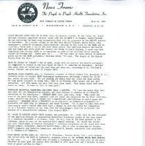 Image of Newsletters - News From:  The People to People Health Foundation Inc. July 31, 1961