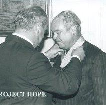 Image of Arturo Constatino, Polish Embassy Ministry of Health Award. 1977