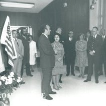 Image of Dr William B Walsh with dignitaries in Poland.