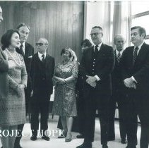Image of Dr William B Walsh with Arturo Constantino and other dignitaries.