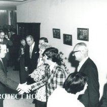 Image of Dr and Mrs William B Walsh and Thomas Walsh with Minister of Heal th in Pol