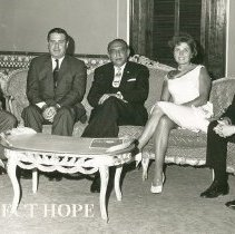 Image of William B Walsh, Dr Rene Gutierrez, Pres of Nicaragua and Archie Golden
