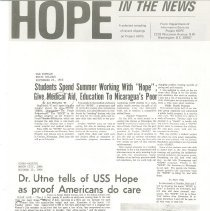 Image of Newsletter - HOPE in the News - Sept.-Oct. 1966