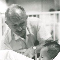 Image of HOPE doctor ? and child on SS HOPE in Nicaragua