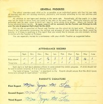 Image of Linda Lee report card 1954-55 p4