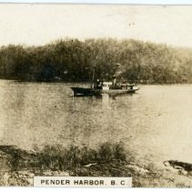 Image of Ship postcard front