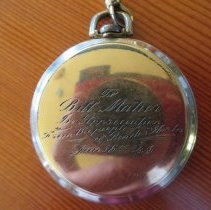 Image of Inscription on Bill Matier's watch