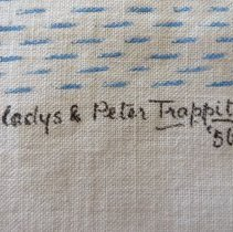 Image of Trappitts signature on tapestry
