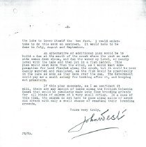 Image of John West letter Nelson Island fish p2