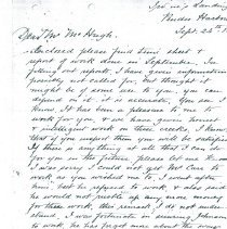 Image of John Wray letter to Mr. McHugh p7