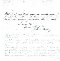 Image of John Wray letter to Mr. McHugh p8