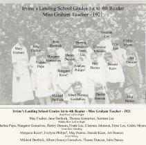 Image of Old Irvines Landing School class 1921 IDs