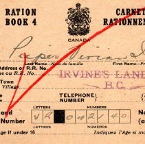 Image of Wartime ration book p1