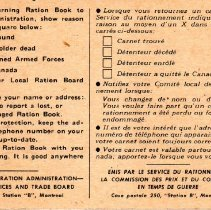 Image of Wartime ration book p2