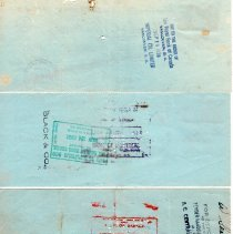 Image of W. Pieper cancelled cheques p2 back
