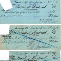 Image of W. Pieper cancelled cheques p3 front