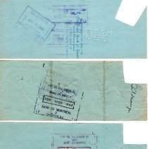 Image of W. Pieper cancelled cheques p3 back