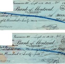 Image of W. Pieper cancelled cheques p4 front