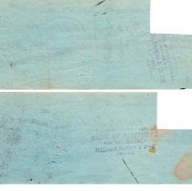 Image of W. Pieper cancelled cheques p4 back